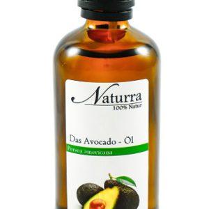 Das Avocado Öl 100ml Glas Flasche