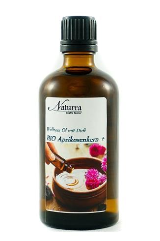 Naturra Wellnessöl Bio Aprikosenkern+ in 100ml lichtgeschützter Glasflasche