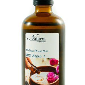Naturra Wellnessöl Bio Argan+ in 100ml lichtgeschützter Glasflasche