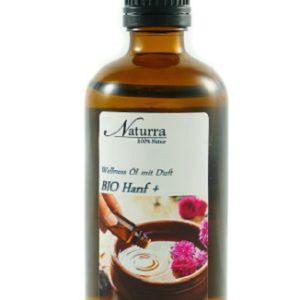 Naturra Wellnessöl Bio Hanf+ in 100ml lichtgeschützter Glasflasche