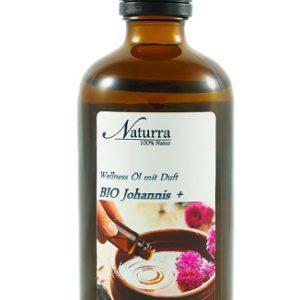 Naturra Wellnessöl Bio Johanniskraut+ in 100ml lichtgeschützter Glasflasche