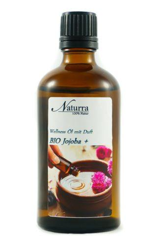 Naturra Wellnessöl Bio Jojoba+ in 100ml lichtgeschützter Glasflasche