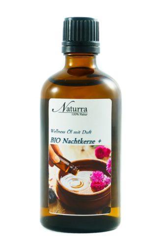 Naturra Wellnessöl Bio Nachtkerze+ in 100ml lichtgeschützter Glasflasche