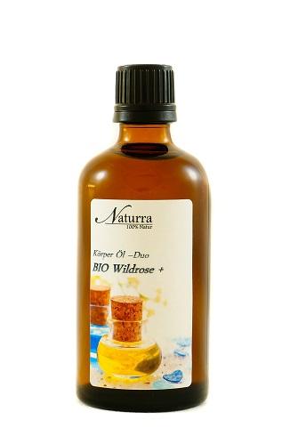 Das Wildrosen Öl DUO 100ml Flasche lichtgeschütztes Glas