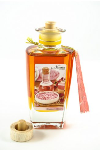 "Naturra Rosenmassageöl ""Eternal Rose"" 100ml Glas Flakon offen"