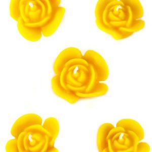 "Naturra Bienenwachskerzenset ""Rosenblüten"" 5 Kerzen Top-down"